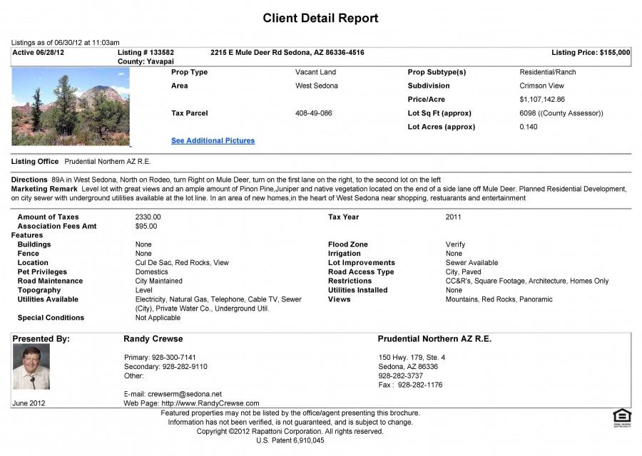 2215 mule deer listing information